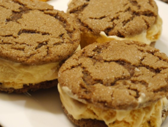 Pumpkin-Gingerbread Ice Cream Sandwiches Recipes — Dishmaps