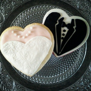 Bride & Groom Wedding Cookies!